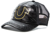 True Religion Printed Leather Accent Baseball Cap