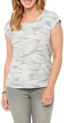 Wit & Wisdom Twist Back Camo T-Shirt