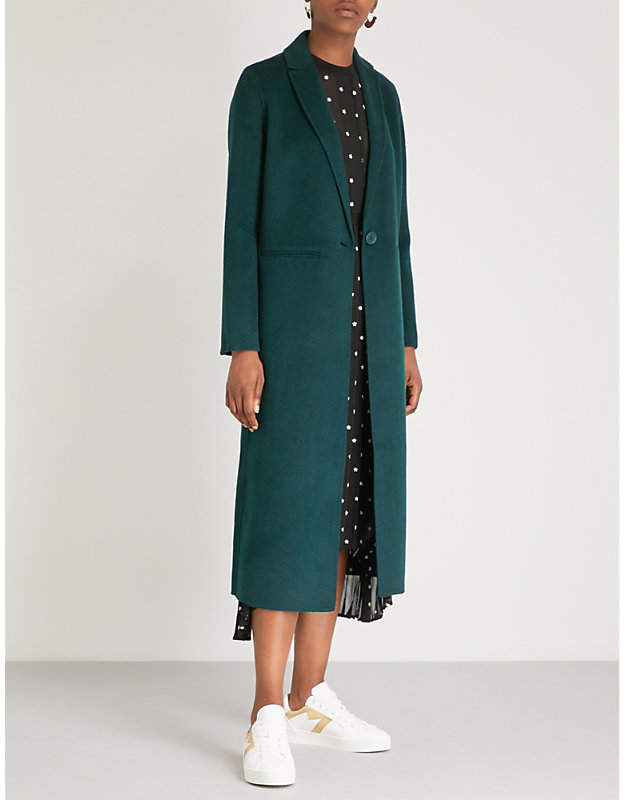 Maje Galaxy long line wool-blend coat