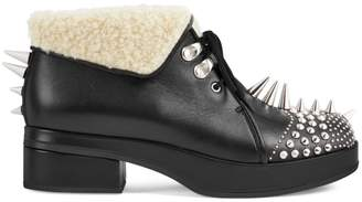 Gucci Leather Booties With Spikes & Studs