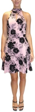 Almost Famous Juniors' Floral Fit & Flare Dress