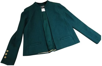 Chanel Green Tweed Jacket for Women
