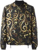 Versace baroque hooded jacket - men - Polyester - 52