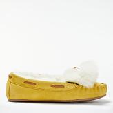 Boden Moccasin Pom Pom Slippers
