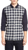 French Connection Men's Trim Fit Pop Flannel Sport Shirt