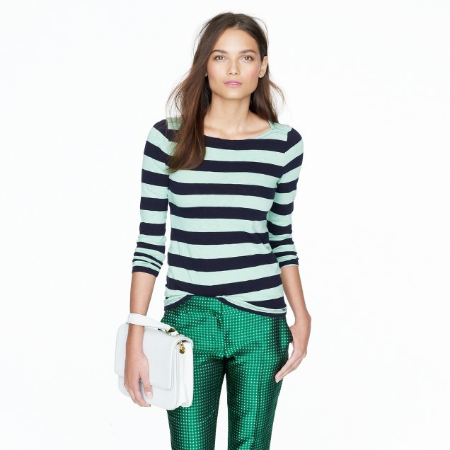 J.Crew Painter boatneck tee in stripe
