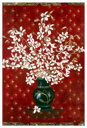 Jonathan Bass Studio Majestic Blossom, Decorative Framed Hand Embellish