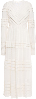 Zimmermann Pleated Fil Coupe Georgette Maxi Dress