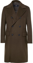 HUGO BOSS Nyden Double-breasted Felted Virgin Wool And Cashmere-blend Coat - Green