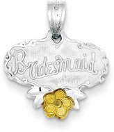 jewelryPot Sterling Silver Bridesmaid Vermail Charm (0.5IN long x 0.7IN wide)