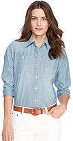 Lauren Ralph Lauren Long-Sleeve Chambray Denim Shirt