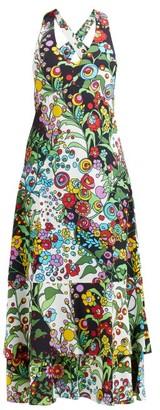 La DoubleJ Molly Girl Holly Hock-print Maxi Dress - Black Print