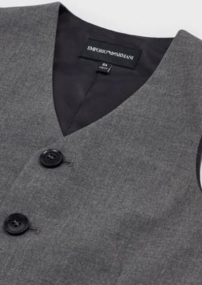 Emporio Armani Single-Breasted V-Neck Waistcoat