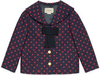Gucci Children's polka dot cotton jacket