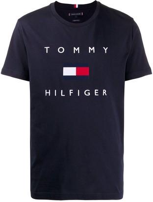 Tommy Hilfiger logo-print organic cotton T-shirt