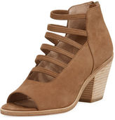 Eileen Fisher James Open Toe Stretch-Strap Bootie