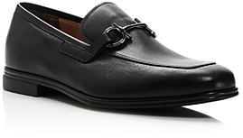 Salvatore Ferragamo Men's Scarlet Gancini Bit Leather Loafers - Wide