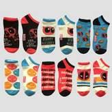 Marvel Women's 6pk Low Cut Deadpool Casual Socks - 9-11