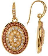 Carolee Pave Oval Drop Earrings