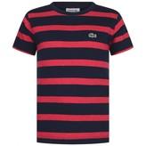 Lacoste LacosteBoys Navy & Red Striped Jersey Top