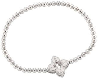 Roberto Coin Petite Venetian Small Station 18K White Gold & Diamond Stretch Bracelet