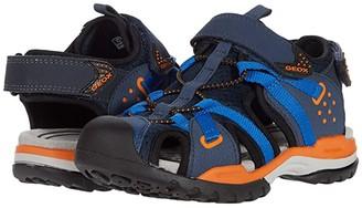 Geox Kids Borealis Boy 8 (Little Kid/Big Kid) (Navy/Orange) Boy's Shoes