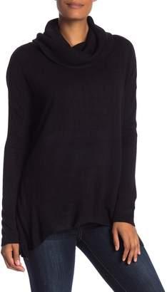 Susina Curved Hem Cowl Neck Sweater (Regular & Petite)
