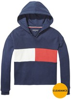 Tommy Hilfiger Girls Flag Cropped Hoodie