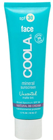 Coola Mineral Sunscreen Face SPF30 Unscented Matte Tint