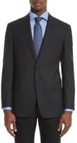 Armani Collezioni Men's Trim Fit Check Wool Sport Coat
