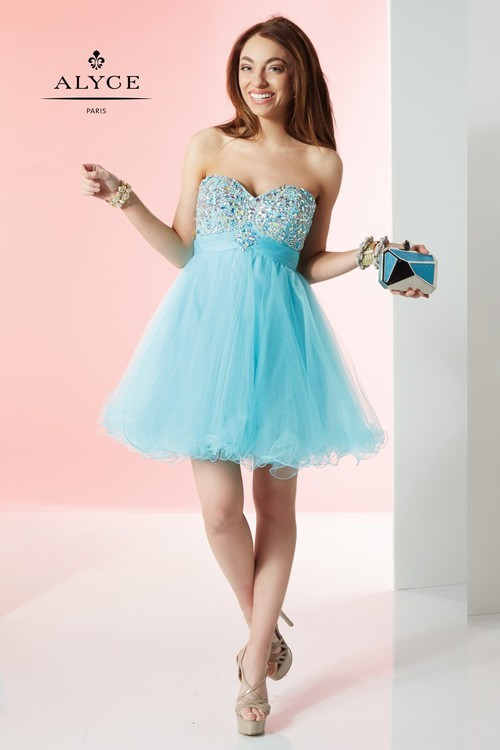 Alyce Paris - 1064 Dress in Mist Turquoise