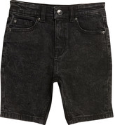 River Island Boys black wash Sid skinny shorts