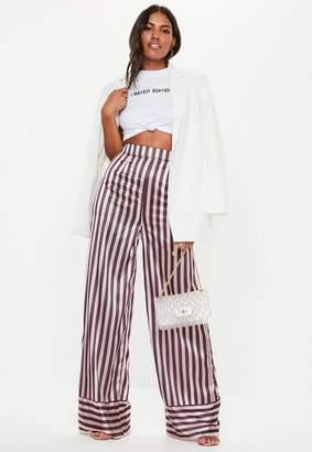 Missguided Tall Pink Stripe Wide Leg Pants