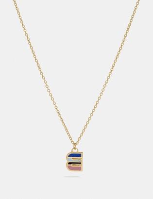 Coach 80'S Retro Alphabet E Charm Necklace