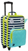 Lassig Toddler Little Monster Rolling Suitcase - Blue
