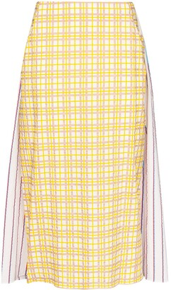 Rosie Assoulin Party In The Back panelled midi skirt