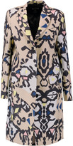 MSGM Printed wool and silk-blend coat