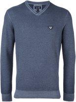 Armani Jeans v neck fine knit jumper