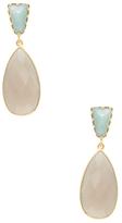 Amazonite & Grey Chalcedony Drop Earrings