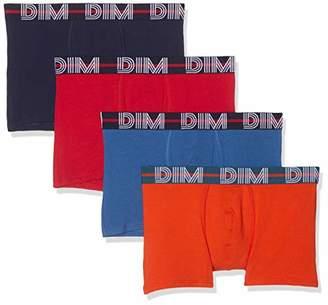 Dim Men's Boxer Powerful X4 Swim Trunks, Multicolour (Rouge Baie Nuit/Bleu Cobalt/Orange Bronze Q), (Size: 2) (Pack of 4