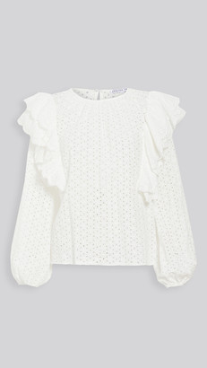 ENGLISH FACTORY Eyelet Ruffle Detailed Blouse
