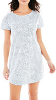 Liz Claiborne Short-Sleeve Nightshirt - Plus