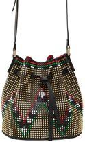 Les Petits Joueurs Daliha Studded Leather Bucket Bag