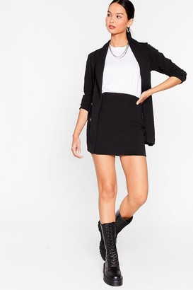 Nasty Gal Womens Business Talk Double Breasted Blazer - Black