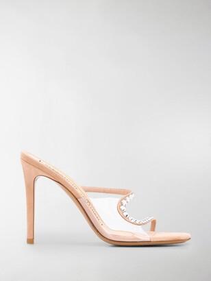 Alexandre Vauthier Crystal Embellished Stiletto Sandals