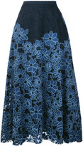 Antonio Marras floral A-line skirt - women - Cotton/Polyester/Spandex/Elastane/Polyimide - 40