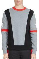 Givenchy Asymmetrical Stripes & Stars Sweatshirt