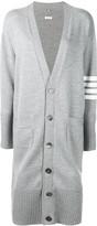 Thom Browne striped sleeve long cardigan