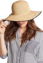 Hat Attack Raffia Tipped Edge Sun Hat