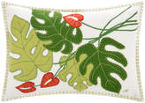 Jan Constantine Tropical Cheese Plant Cushion - Cream